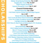 Scholarships Deadline