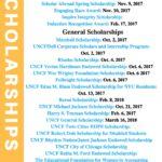 Scholarships Deadline